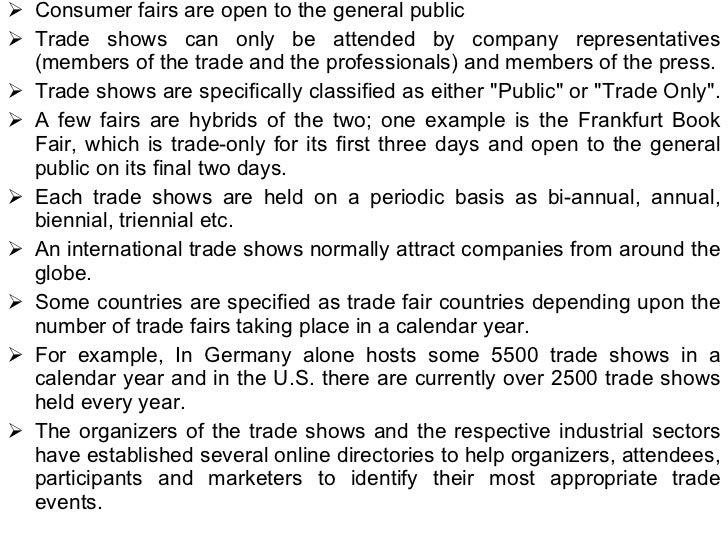 Trade fairs Slide 3
