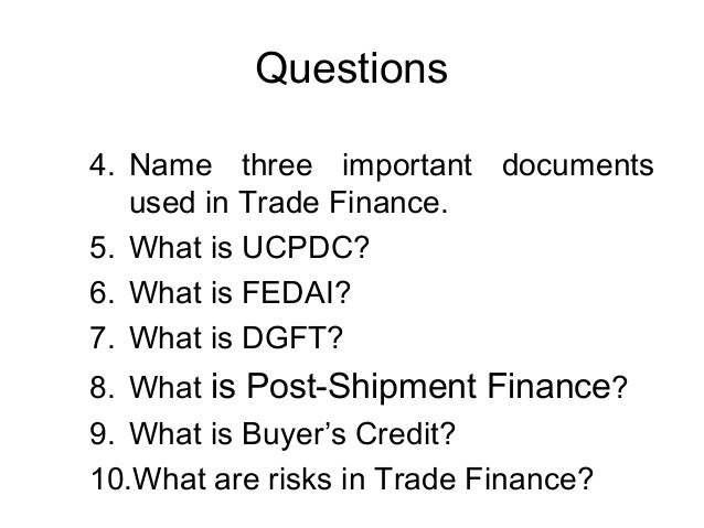 Self liquidating trade finance guide