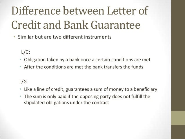 bank guarantee letter trade finance instruments 6081