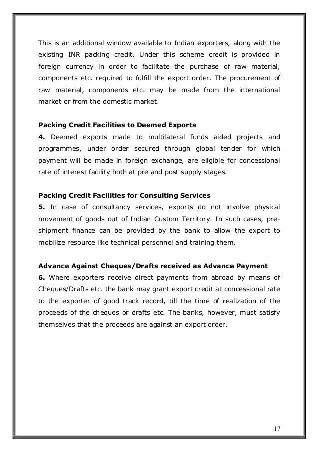 c0ef4fb431 Trade finance post and pre shipment