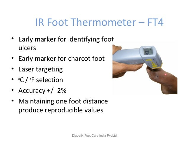IR Foot Thermometer – FT4 • Early marker for identifying foot ulcers • Early marker for charcot foot • Laser targeting • o...