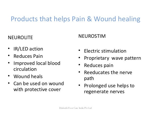 Products that helps Pain & Wound healing NEUROLITE • IR/LED action • Reduces Pain • Improved local blood circulation • Wou...