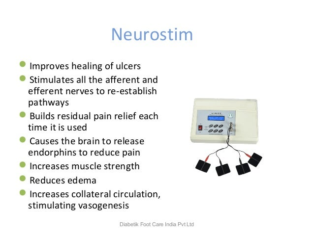 Neurostim Improves healing of ulcers Stimulates all the afferent and efferent nerves to re-establish pathways Builds re...