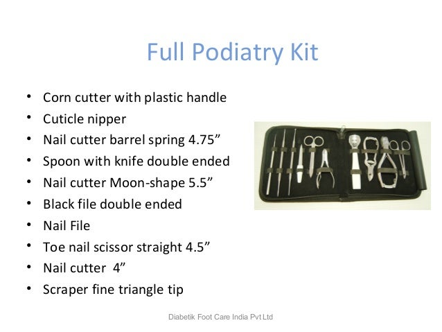 """Full Podiatry Kit • Corn cutter with plastic handle • Cuticle nipper • Nail cutter barrel spring 4.75"""" • Spoon with knife ..."""