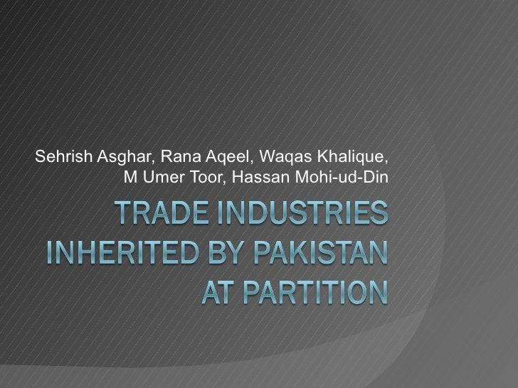 Sehrish Asghar, Rana Aqeel, Waqas Khalique,           M Umer Toor, Hassan Mohi-ud-Din