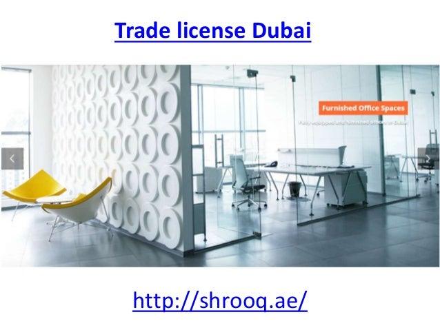 Trade License Dubai Shrooqae