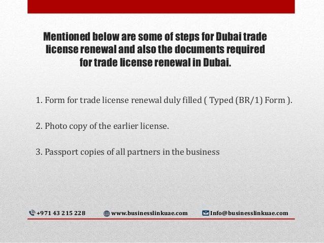 Trade License Renewal Steps in Dubai