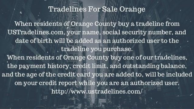 Tradelines for sale orange