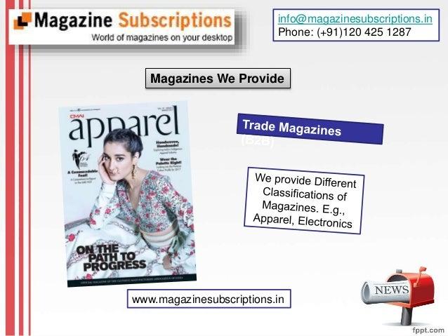 Trade magazine subscription online