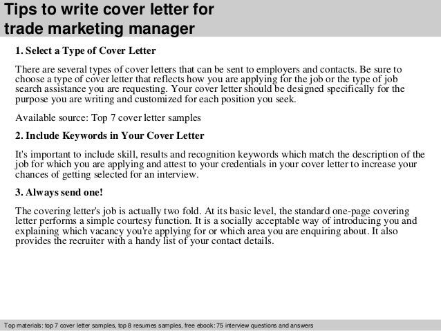 3 tips to write cover letter for trade marketing manager 1 marketing manager cover letters