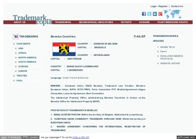 Login / Register | Contact Us  ABOUT US  TRADEMARKS  TRADEMARKS  GEOGRAPHICAL INDICATIONS  PATENTS  DESIGNS  7:41:07  Bene...