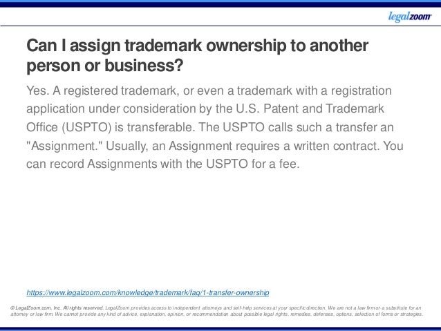 uspto trademark assignment