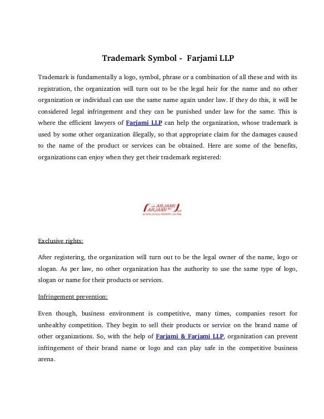 Trademark Symbol Farjami Llp