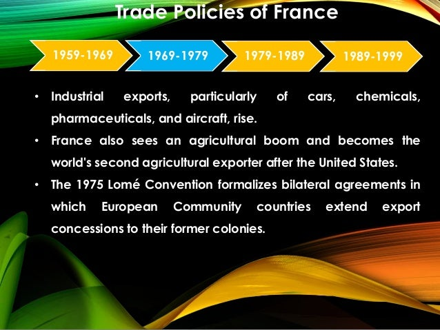 Trade Policy Of France