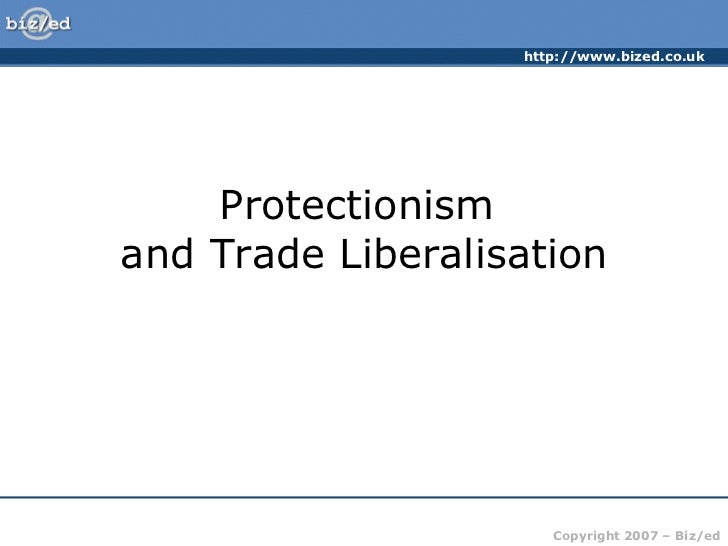 liberalization of trade essay