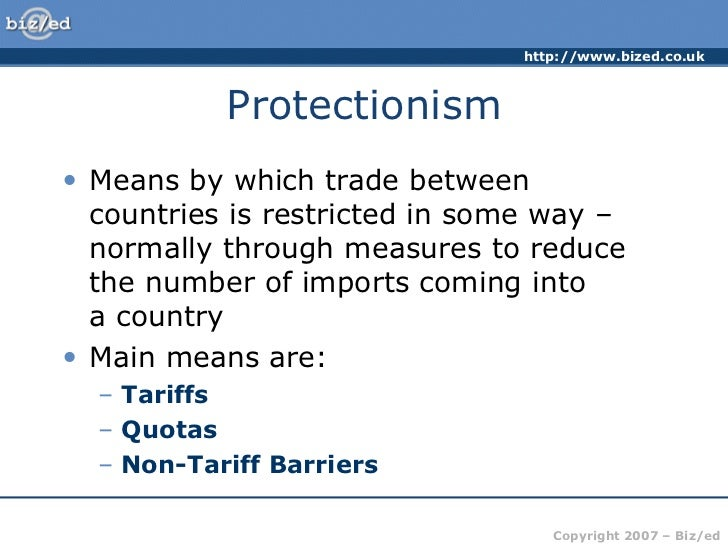 free trade vs protectionism essay