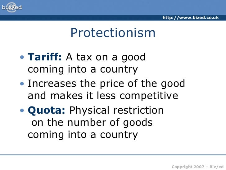 protectionism or free trade for the Trade protectionism is how countries raise tariffs and reduce imports to protect  their  3 types of free trade agreements and how they work.