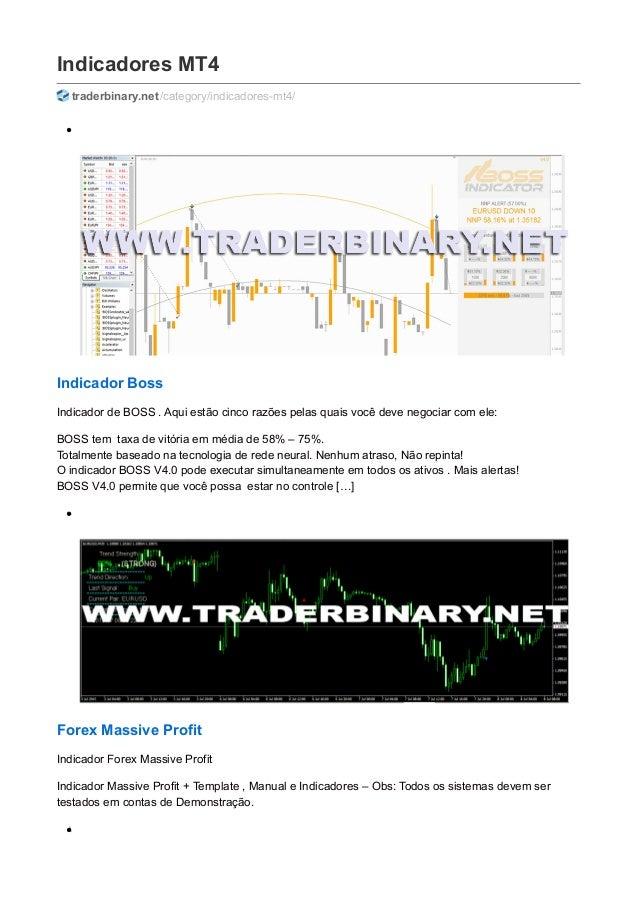 Indicadores MT4 traderbinary.net/category/indicadores-mt4/ Indicador Boss Indicador de BOSS . Aqui estão cinco razões pela...
