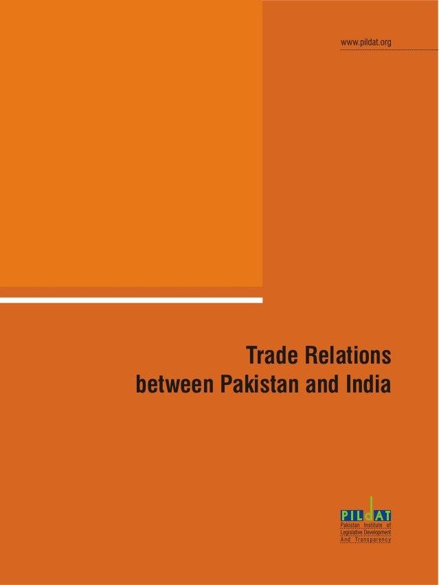 Trade Relationsbetween Pakistan and India