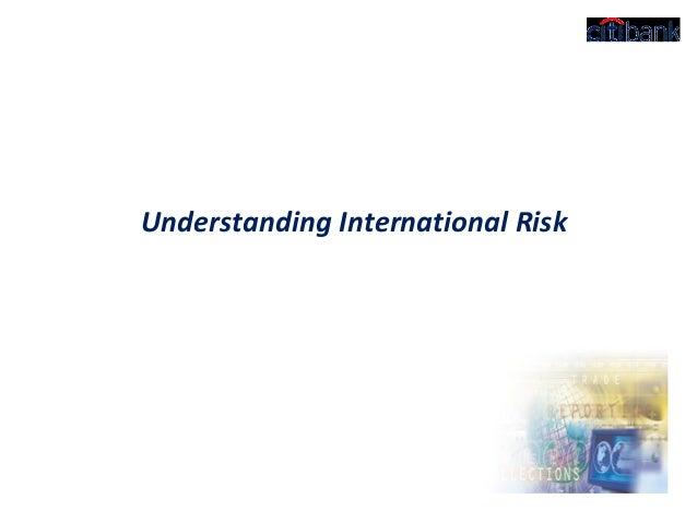 Understanding International Risk