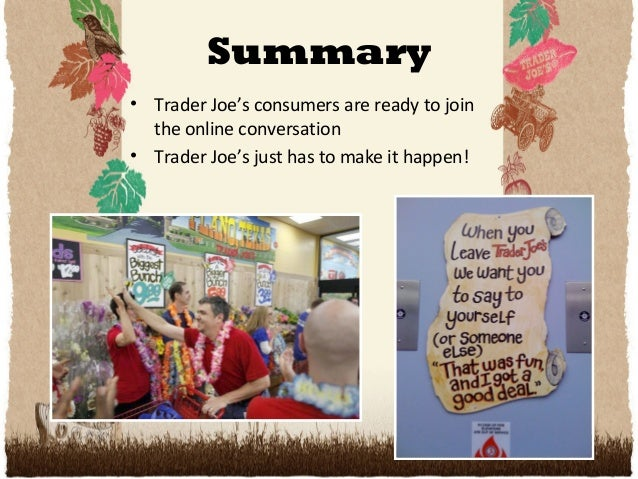 trader joes future marketing strategy Trader joe's plans to kick in $500 for each employee, or about $40 per month  programs to treat the uninsured are facing an uncertain future.