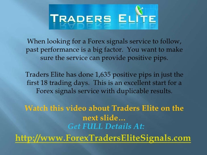 Forex trading signals performance