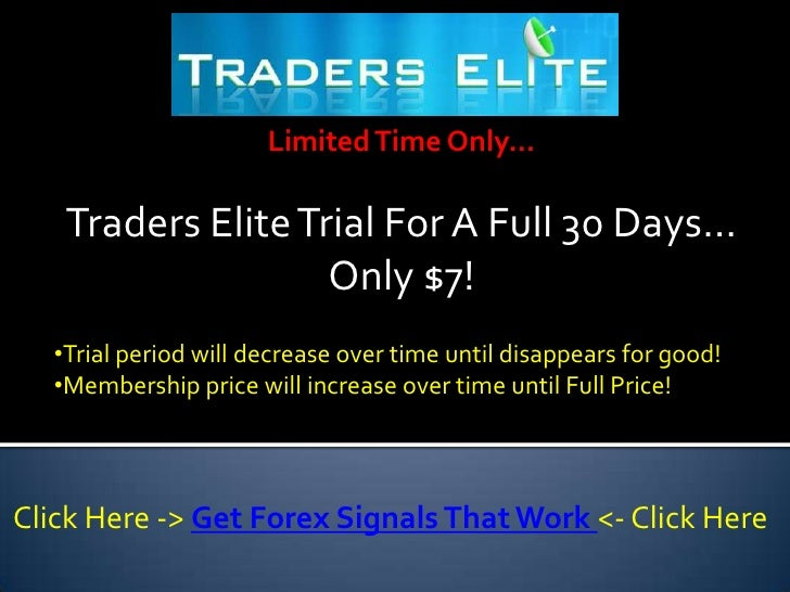 Forex traders elite signals индикатор форекс forex entry point