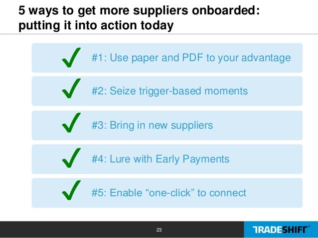 5 ways to accelerate supplier onboarding