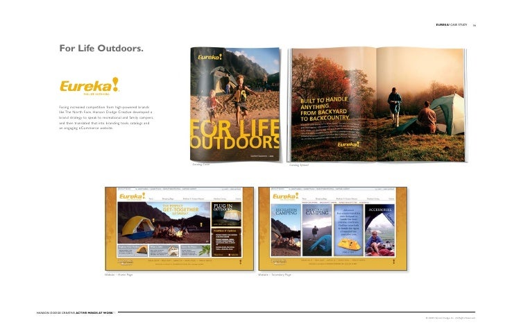 EuREKA! Case stuDy                16                 For Life Outdoors.                 Facing increased competition from ...
