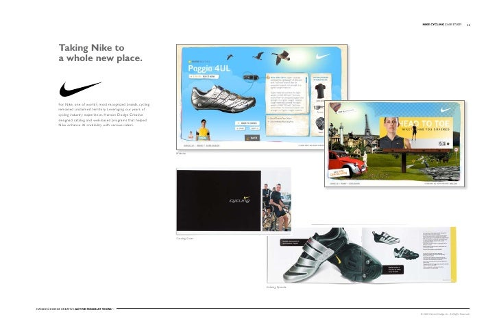 NIKE CYCLING Case stuDy                   20                 Taking Nike to             a whole new place.                ...