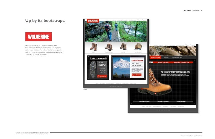 WOLVERINE Case stuDy                   21                 up by its bootstraps.                 Through the design of a mo...