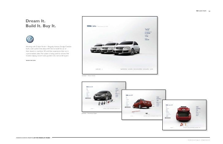 VW Case stuDy              28                Dream It.            Build It. Buy It.                Working with Crispin po...