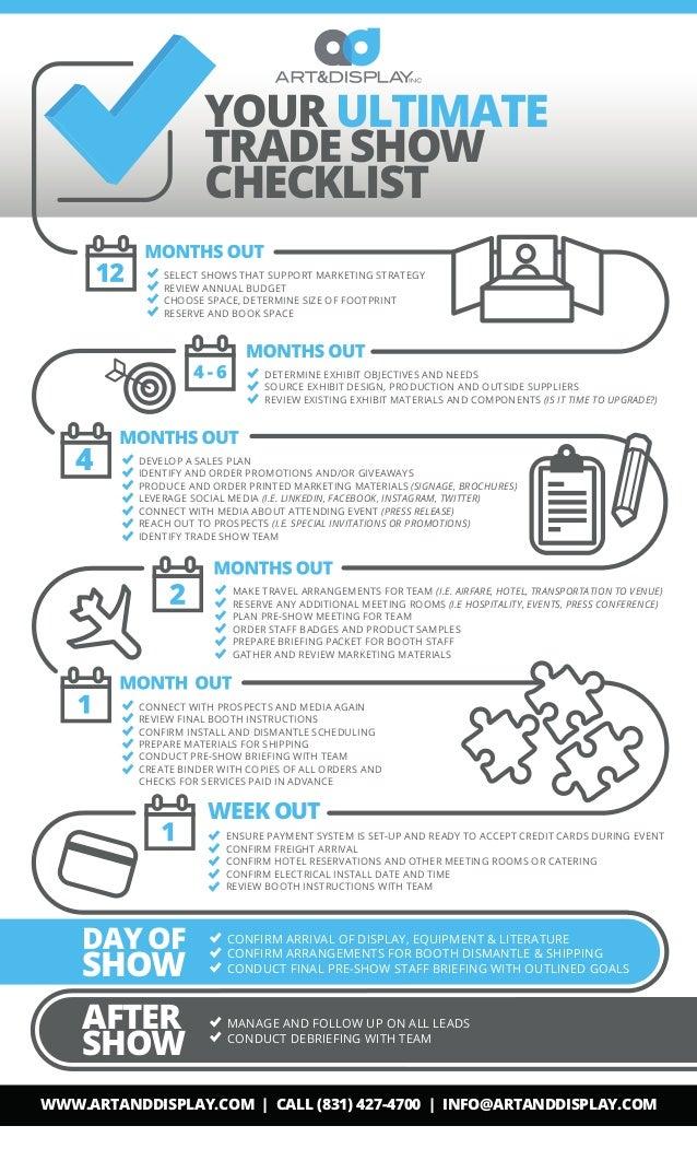 Checklist For Exhibition Booth : Tradeshow checklist