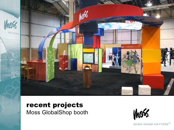 recent projects Moss GlobalShop booth