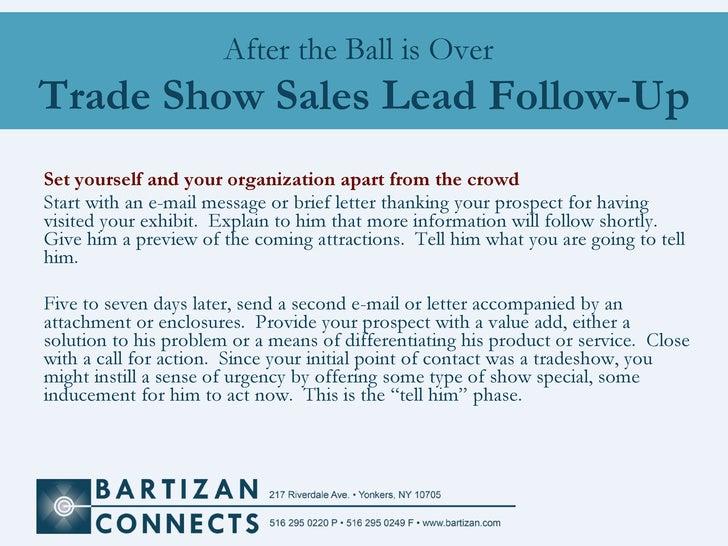 Trade Show Sales Follow Up Bartizan Lead Retrieval
