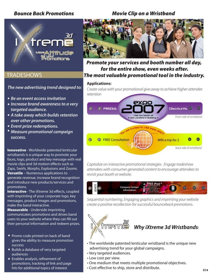 Tradeshows Ixtreme3D Wristbands