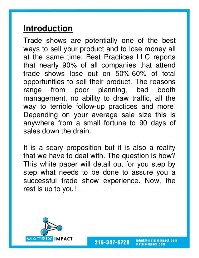 Are you getting the ROI you need from your trade show investment? Slide 2