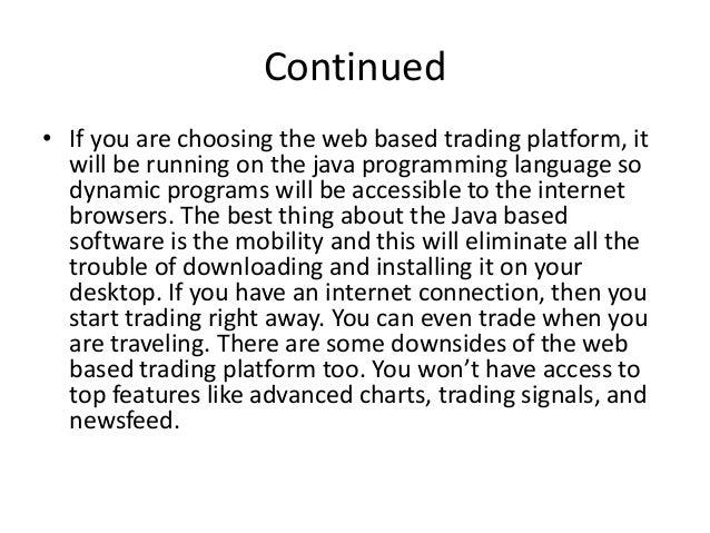 Best web based forex platform