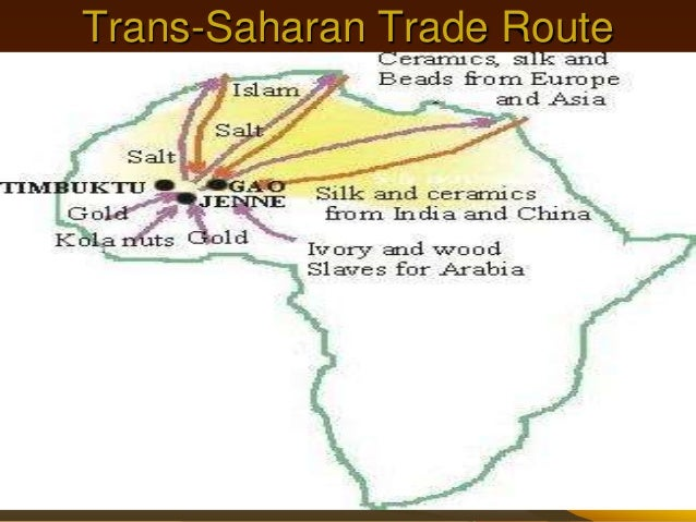 silk road and sub saharan trade rout Yes both routes originated for the purpose of trading both routes have harsh desert conditions silk road passes through the tarim basin trans- saharan passes the saharan desert.