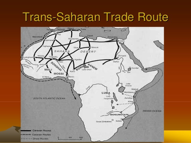 reflect the extent of trans saharan trade The impact of the slave trade on africa perhaps as many as nine million along the trans-saharan caravan route, and eleven to twenty million.