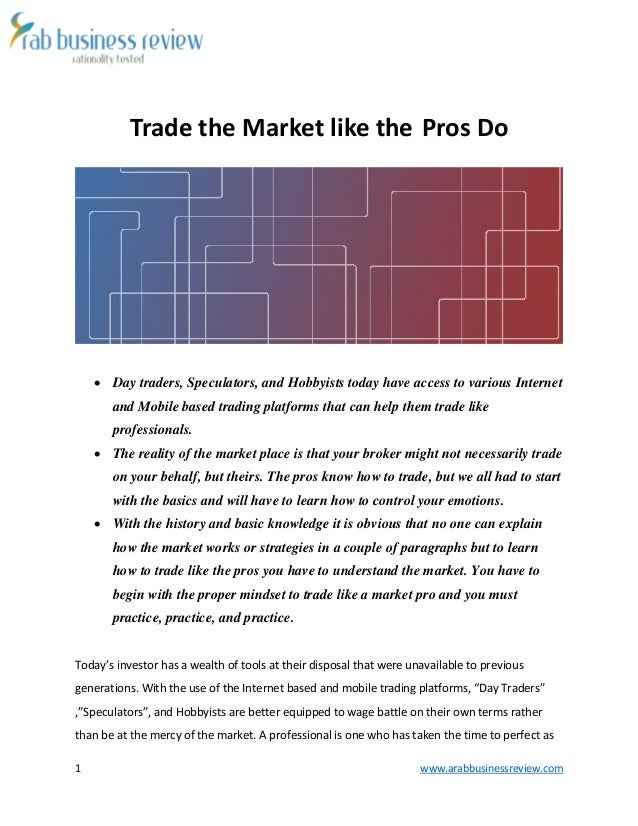 how to trade in share market pdf