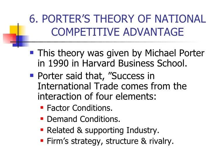 Trade theory 6 kk - Porter s model of competitive advantage ...