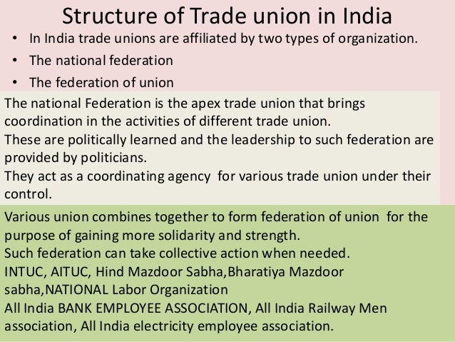Political Affiliation of Trade Union