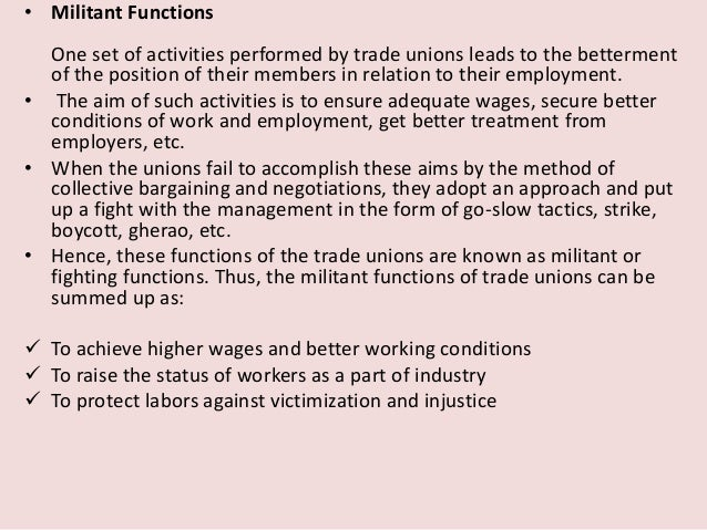 functions of trade union ppt