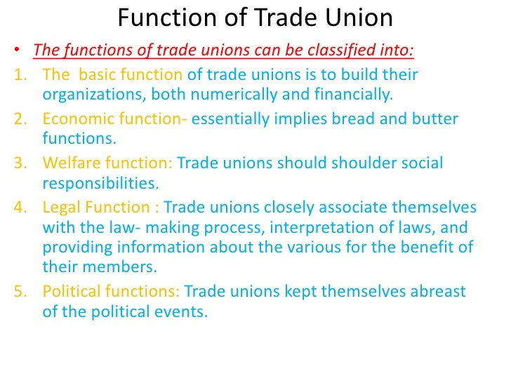 an analysis of the trade unions and their roles Chapter-ii role of trade unions & management associations and their present trend in india 21 introduction with the changed social, political and educational.
