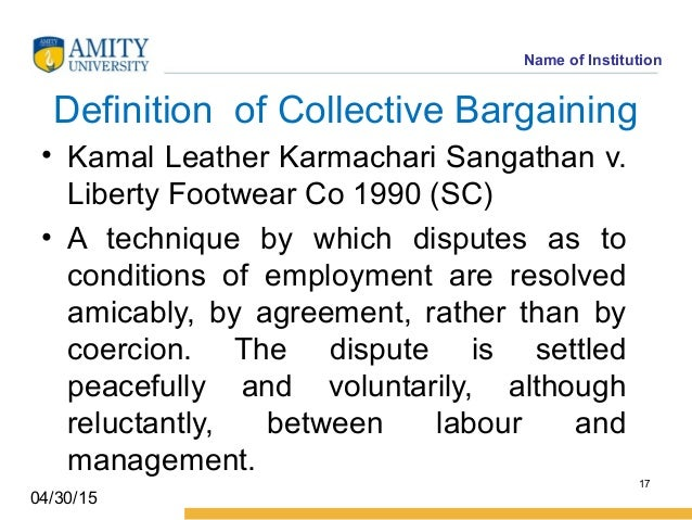 What is 'Collective Bargaining'