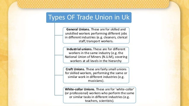 Trade union and its classifications,types,policies and ...