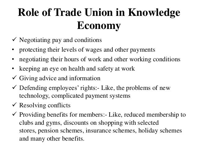 role of trade union ppt