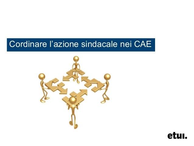 Cordinare l'azione sindacale nei CAE
