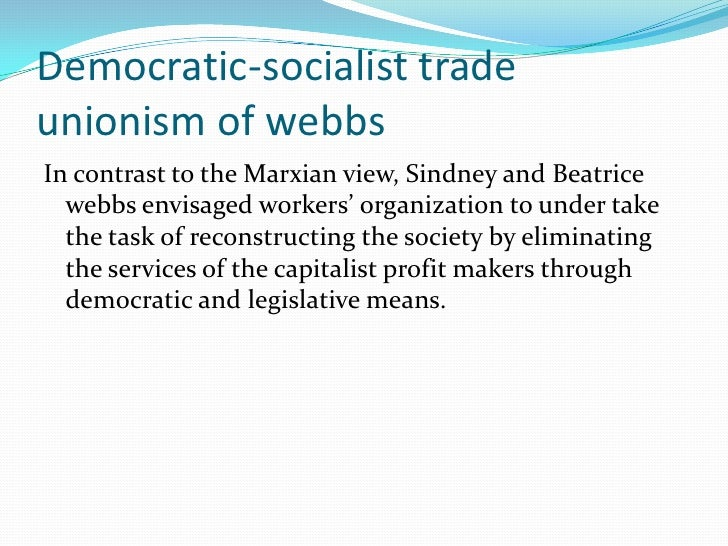  Gandhian trade unionism Gandhiji sought greater equality and socialism through persuasion not coercion. He propounded t...